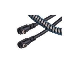 Kaiser cable synchro flash spirale 0.65 m - mâle / mâle