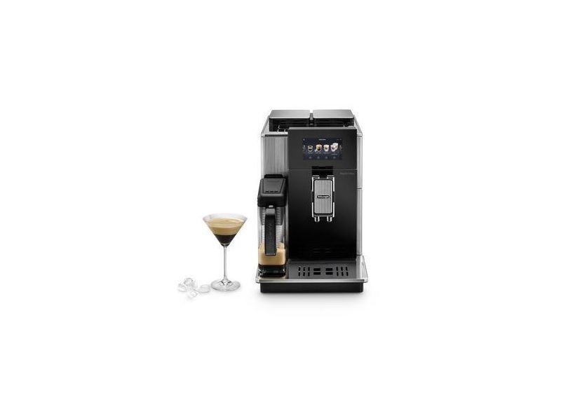 Machine à café automatique avec buse vapeur cappuccino 1450w gris noir