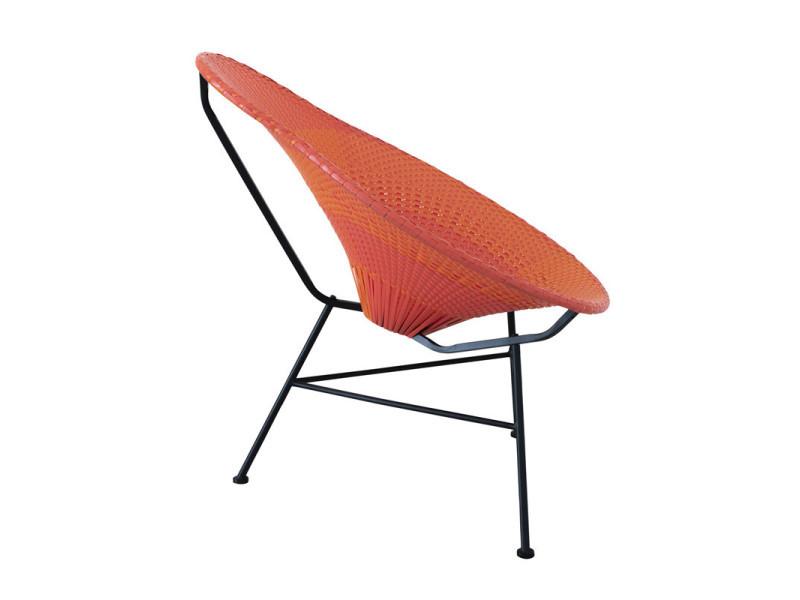 Chaise poire plastique rouge et orange - filippa - l 78 x l ...