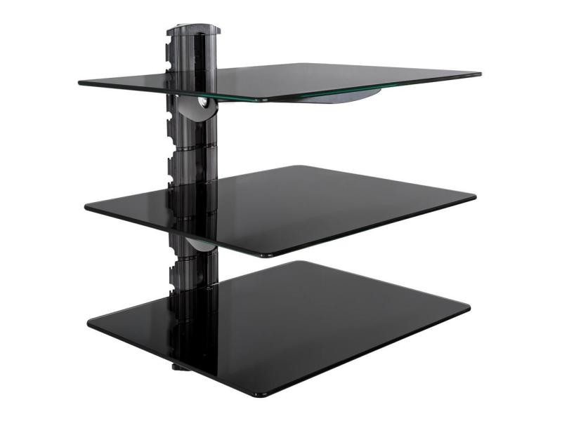 tag re support mural pour dvd console 3 tablettes verre. Black Bedroom Furniture Sets. Home Design Ideas