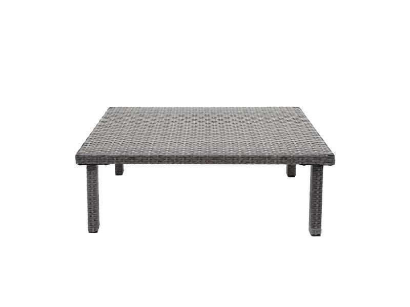Table d'appoint en polyrotin hwc-g16, table de jardin/balcon, gastronomie 80x50cm ~ gris