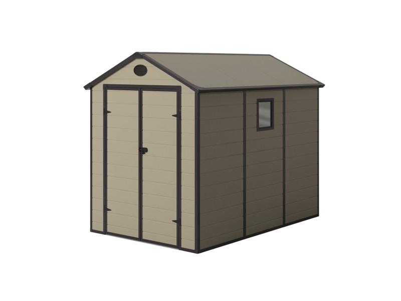 Abri en résine gardiun graciella ecru/marron 5,23m² extérieur