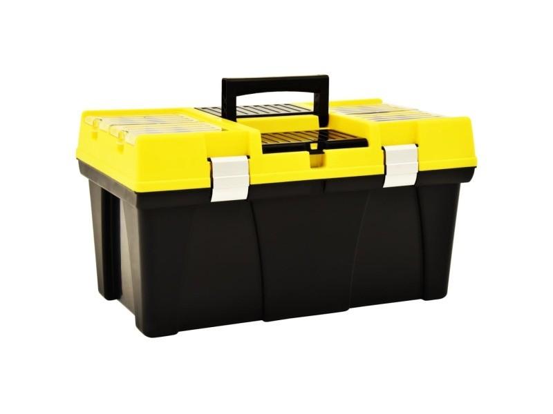 Stylé organisation et rangement d'outils selection astana boîte à outils plastique 595x337x316 mm jaune