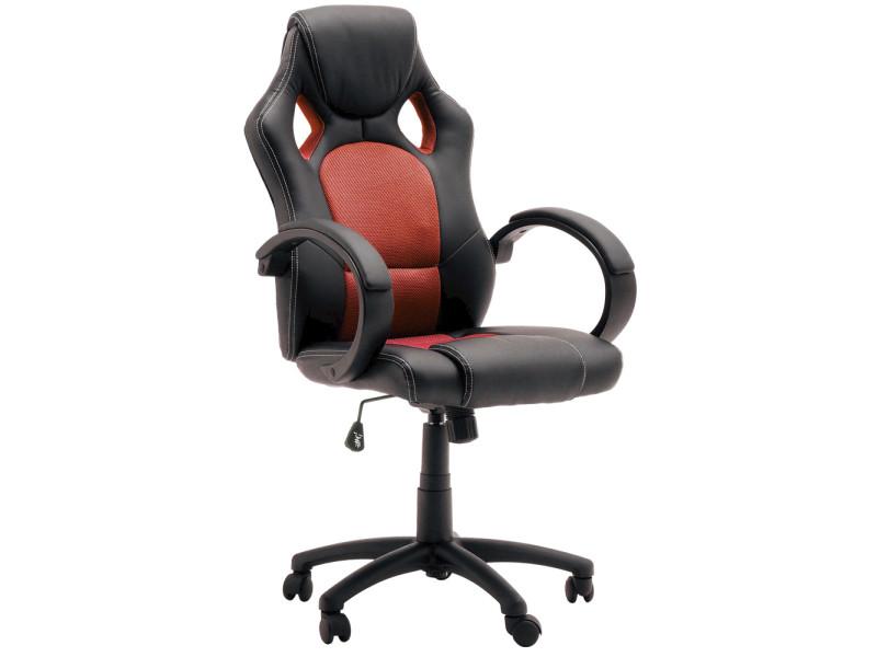 Chaise de bureau gamer coloris noir et rouge vente de comforium
