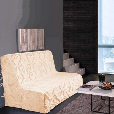 Housse de canapé bz amour - ecru - dimensions : 140x190cm ...