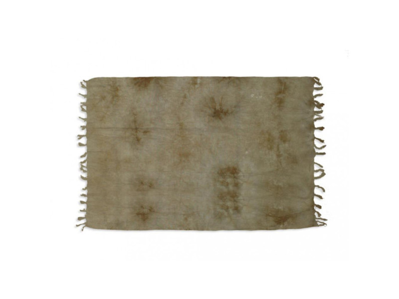 Fouta coton 140x180 cm tie and dye taupe