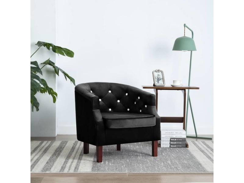 Stylé fauteuils collection malé fauteuil avec revêtement en velours 65 x 64 x 65 cm noir