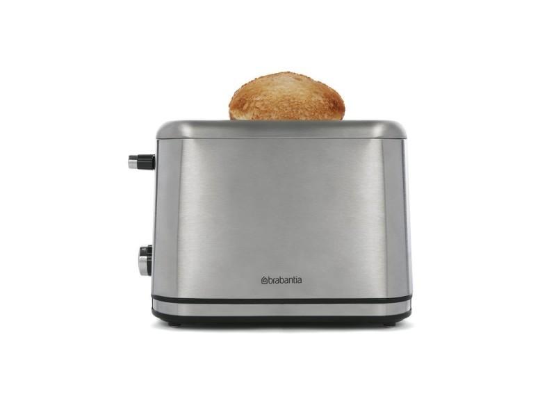 Brabantia bbek1021n toaster - grille pain - 2 fentes - design de luxe - gris BBEK1021N
