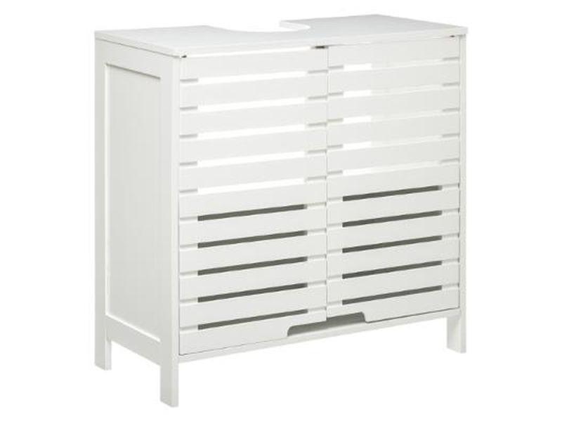 Meuble sous lavabo sicela - 60 x h. 58,5 cm - blanc