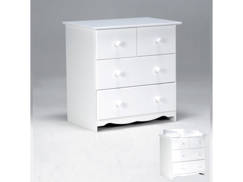 Commode blanc laqu conforama simple commode tiroirs en bois laqu brillant blanc coco l x l x h - Conforama commode blanche ...