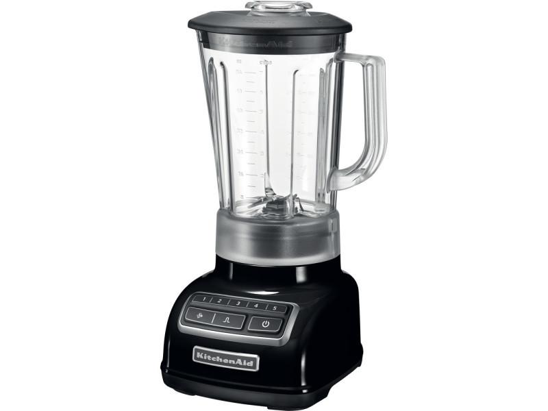 Blender mixeur électrique de 1,75l avec 5 vitesses 550w noir onyx gris