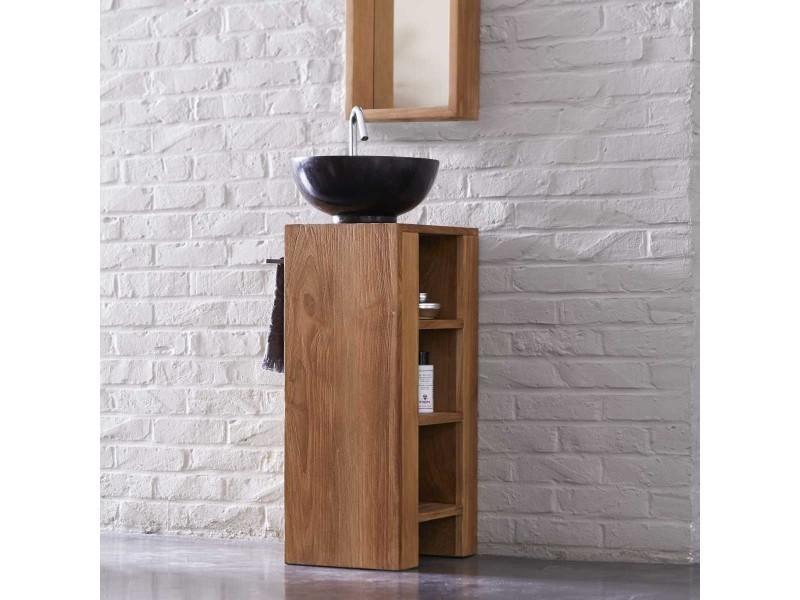 Meuble salle de bain en teck 30 stelle gauche - Vente de Meuble et rangement - Conforama