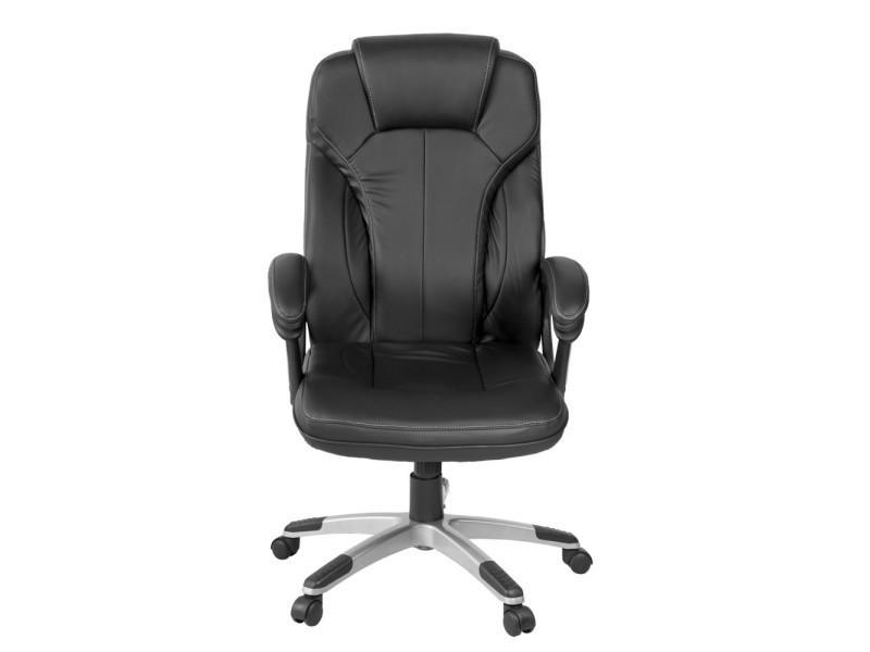 fauteuil de bureau prestige si ge pivotant simili cuir noir vente de homekraft conforama. Black Bedroom Furniture Sets. Home Design Ideas