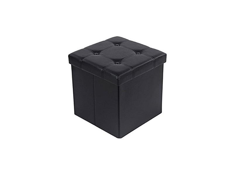 cube pouf coffre de rangement pliable conforama. Black Bedroom Furniture Sets. Home Design Ideas