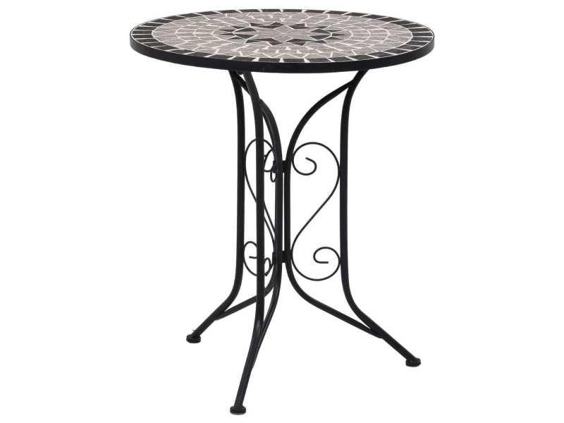 Admirable mobilier de jardin selection budapest table de bistro mosaïque gris 61 cm céramique