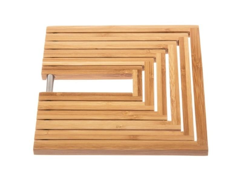 Dessous de plat extensible - 19 x 19 x 1 cm - bambou