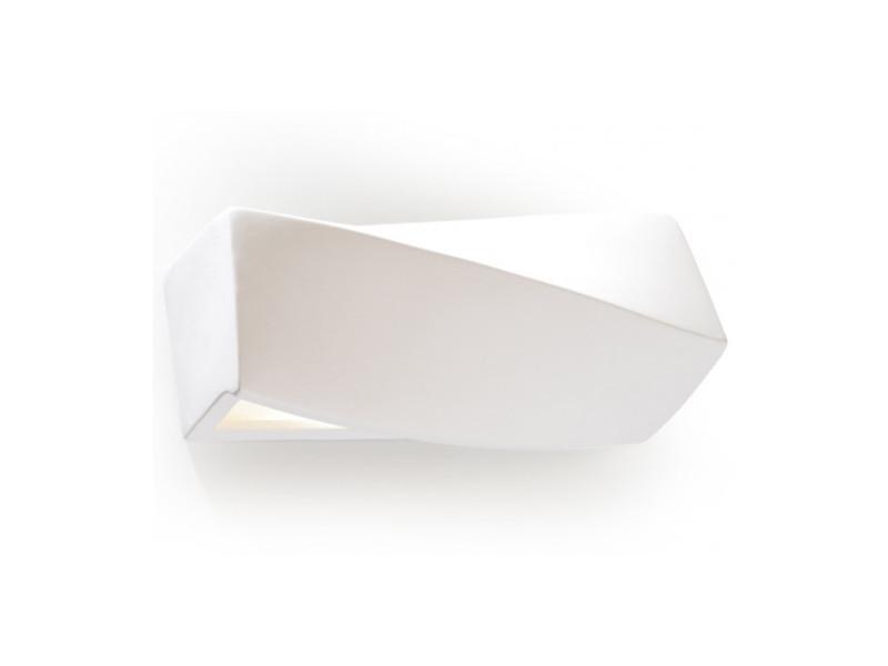 Applique murale sigma mini céramique blanc 1 ampoule