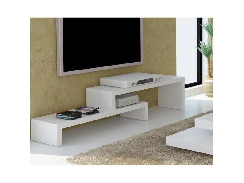 Cliff 120 meuble tv laque blanc mat design 20100834984