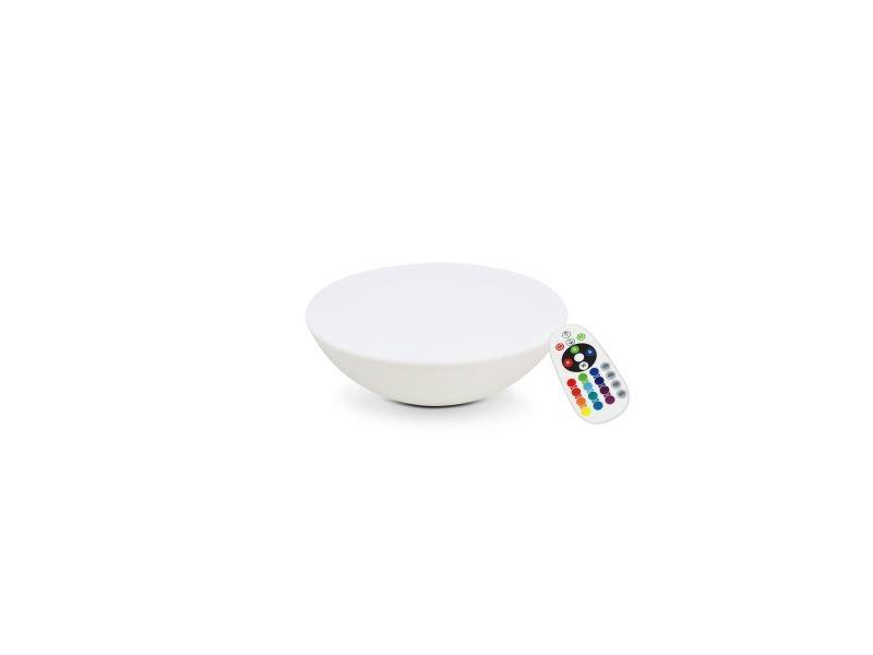 Table basse lumineuse sans fil polyéthylène multicolore