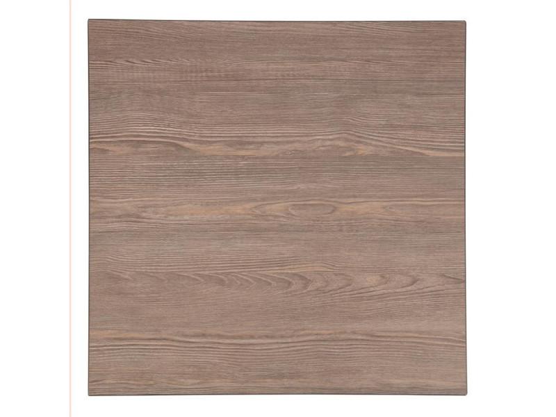 Plateau de table carré 600 mm effet bois gris - bolero