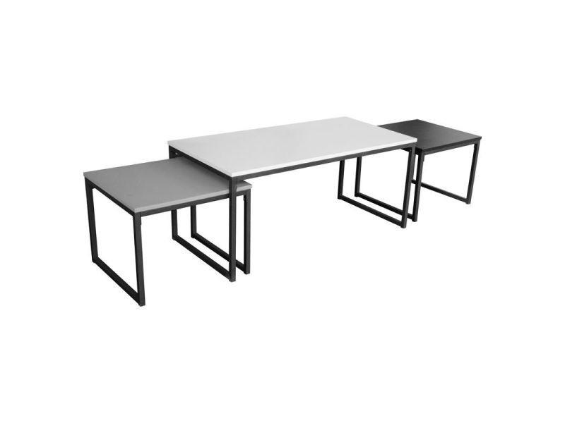 Paris prix - lot de 3 tables basses \