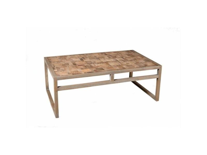 Table basse design mozaic clara en acacia 20100858500