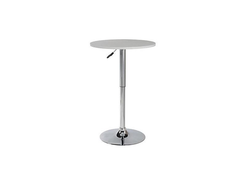 Table de bar 60 cm en acier et bois gris