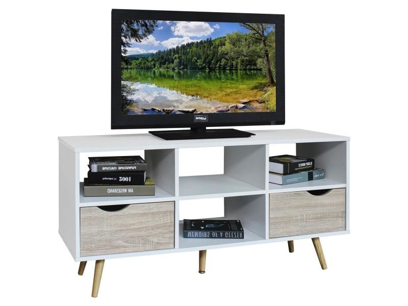 meuble banc tv design nantes d cor blanc et bois vente de meuble tv conforama. Black Bedroom Furniture Sets. Home Design Ideas