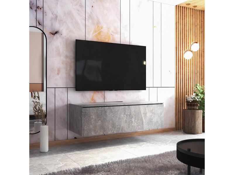 Meuble tv - skylara - 140 cm - béton