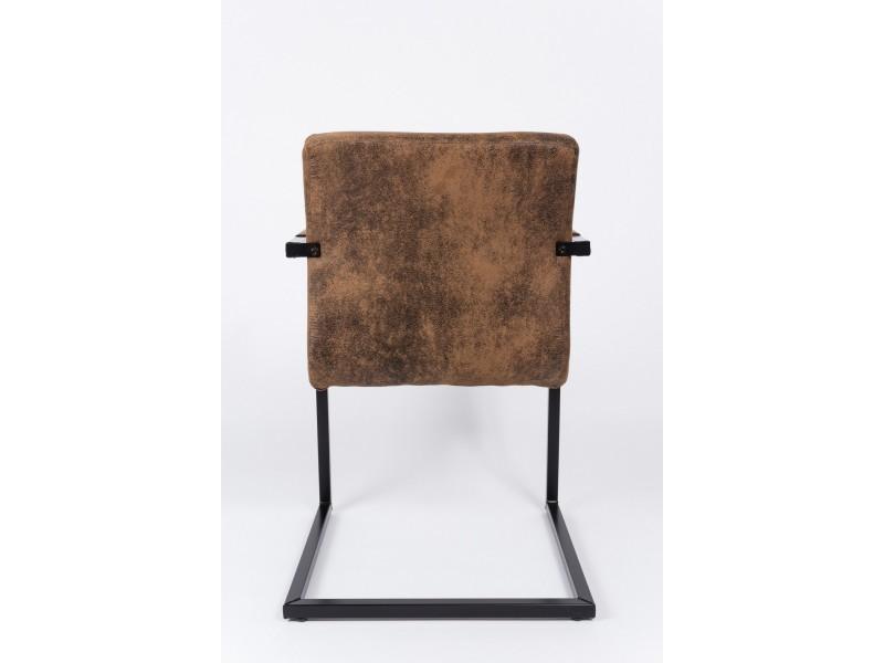 Marron Avec Chaise Accoudoir Piétement Polyester Vintage En b7ygf6