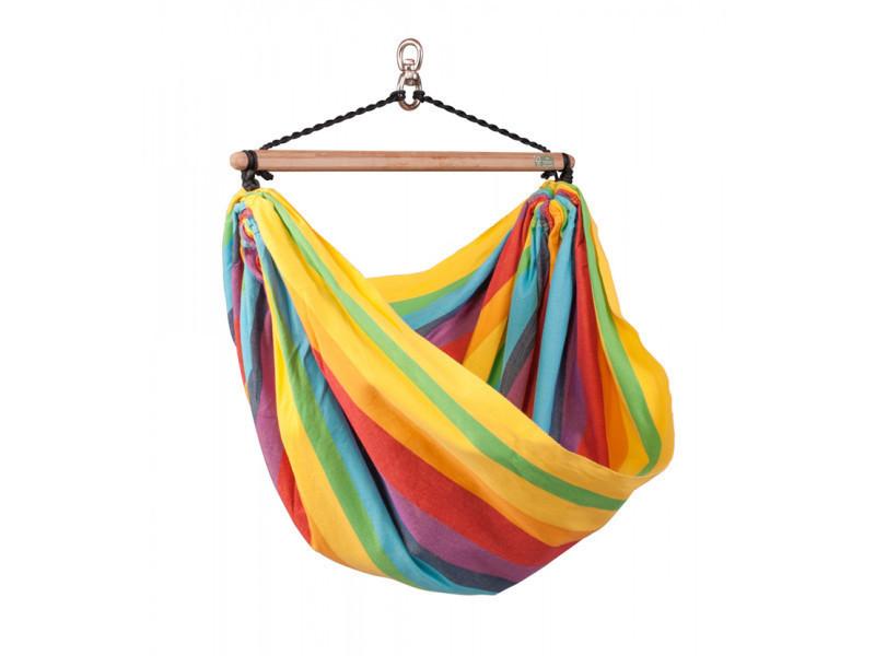 Chaise-hamac enfant eva rainbow, dim : 110 x 155 cm -pegane-