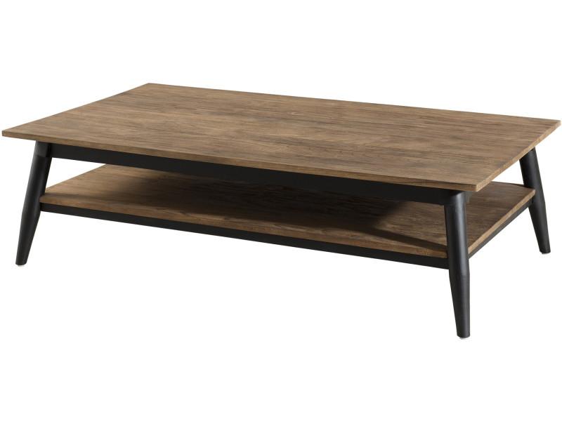Table Basse 120 X 70 Cm Design Scandinave En Bois Massif Mindi