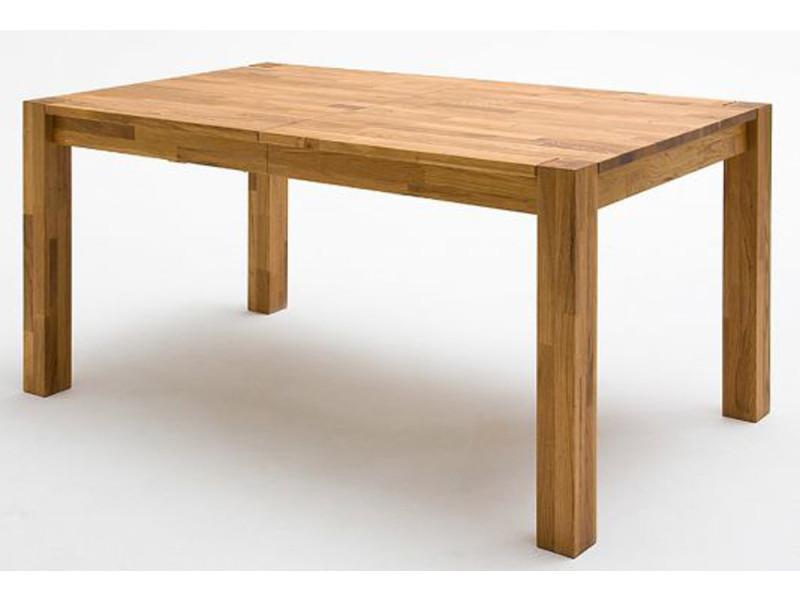 Table à manger extensible, en bois de hêtre massif huilé - l.140/180/220 x h.77 x p.80 cm -pegane-