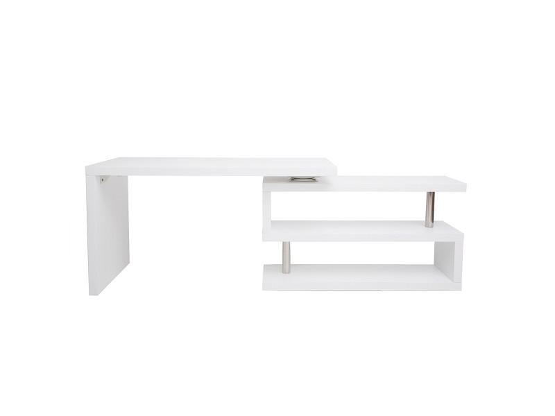 Bureau design modulable blanc mat max vente de bureau conforama