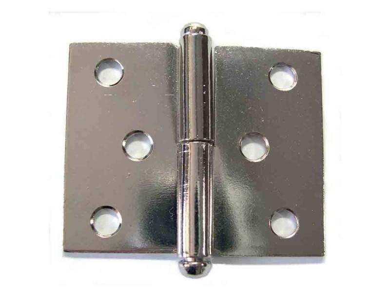 Pvm - paumelle de meuble acier nickelé 50 x 40 mm - droite - lot de 2 BD-482526