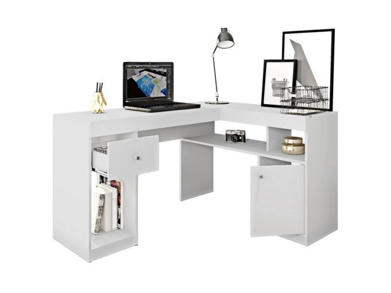 Bureau D Angle Blanc Caisson Et Rangements Vente De Beauxmeublespaschers Conforama