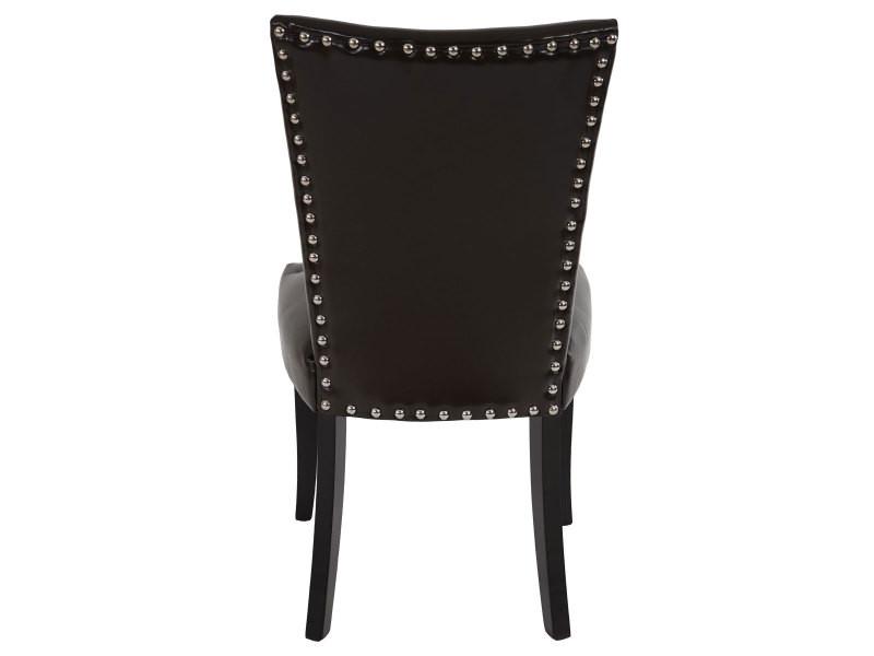 Lot de 6 chaises de salle à manger chesterfield av rivets