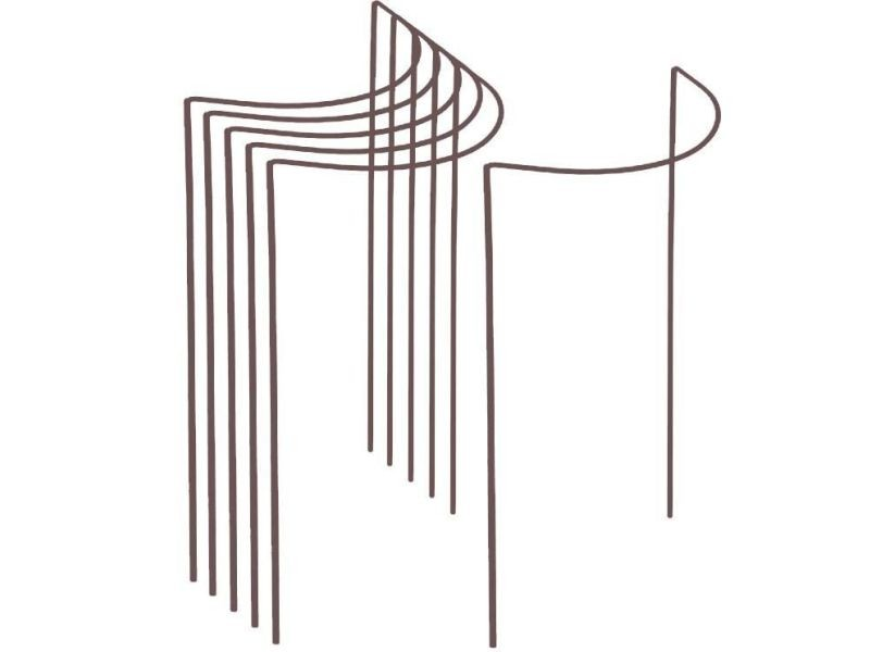 Support à plantes demi-cercle en acier 40 x 75 cm