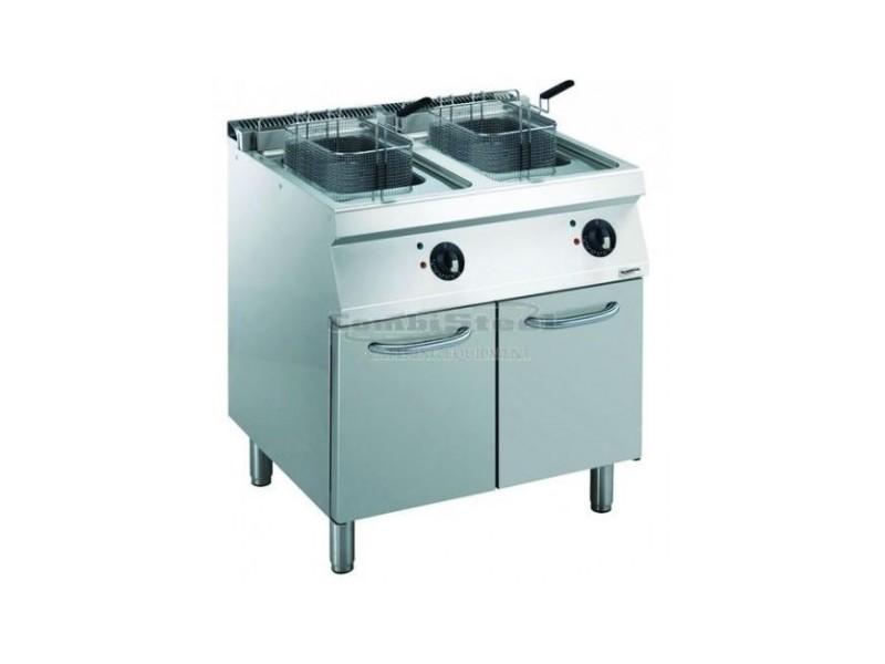 Friteuse électrique sur meuble - 2 x 14 litres - 17,4 kw - combisteel -