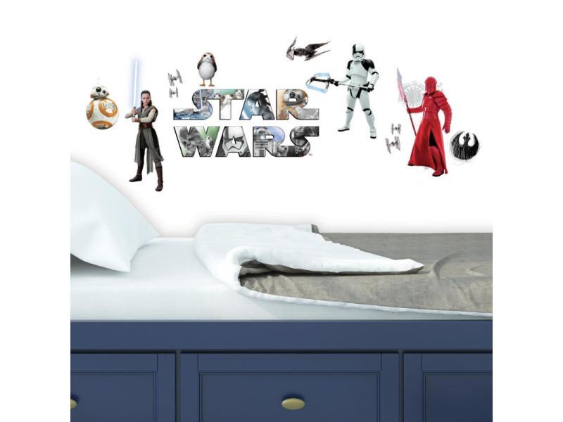 14 stickers repositionnables star wars, épisode viii : les derniers jedi