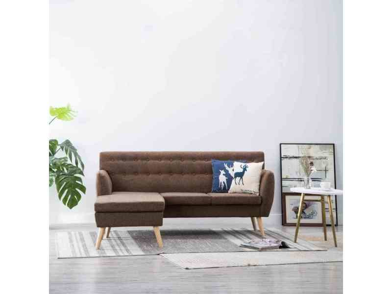Vidaxl canapé d angle revêtement en tissu 171,5x138x81,5 cm marron ... cafa81c3e49