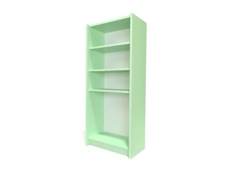 Étagère bibliothèque bois vert pastel ETABIB-VP