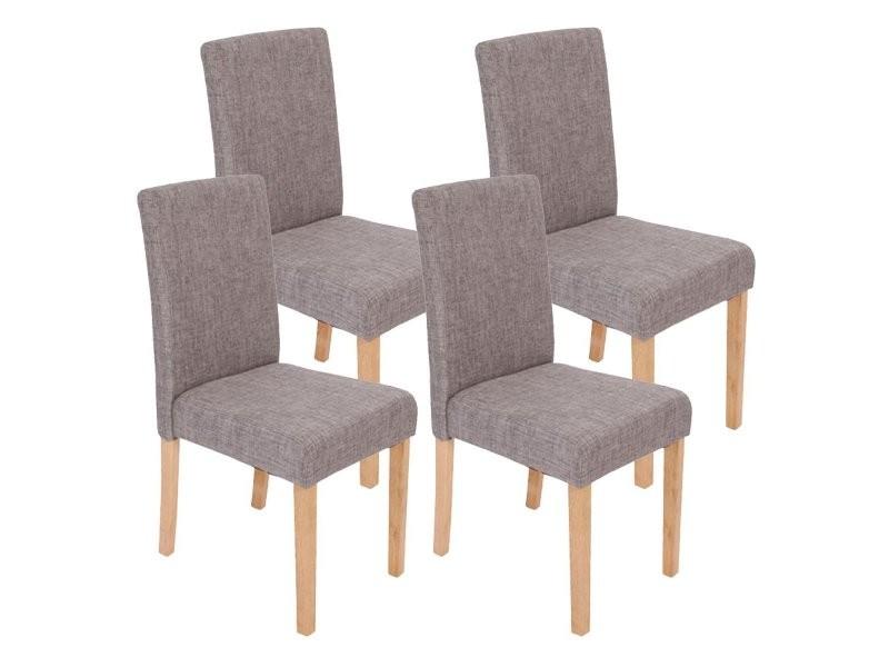 Lot de 4 chaises de salle manger en tissu gris pieds - Conforama catalogue salle a manger ...