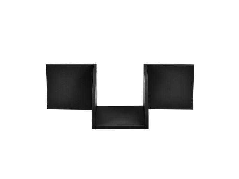 [en.casa] étagère murale noir mat design rétro