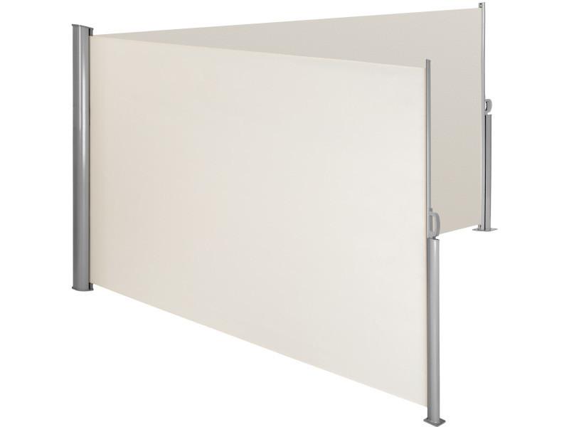 Tectake paravent rétractable double - 200 x 600 cm - beige 402339