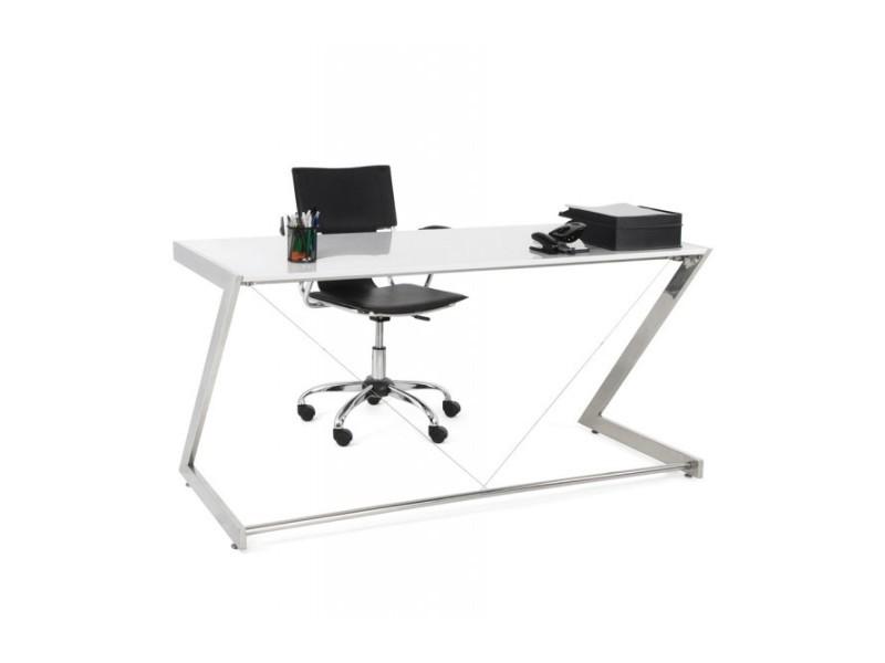 Bureau droit en bois blanc Vente de Accessoires de bureau