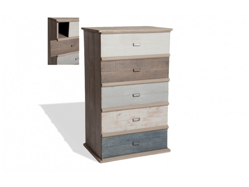 commode 5 tiroirs ouverture lat rales conforama. Black Bedroom Furniture Sets. Home Design Ideas