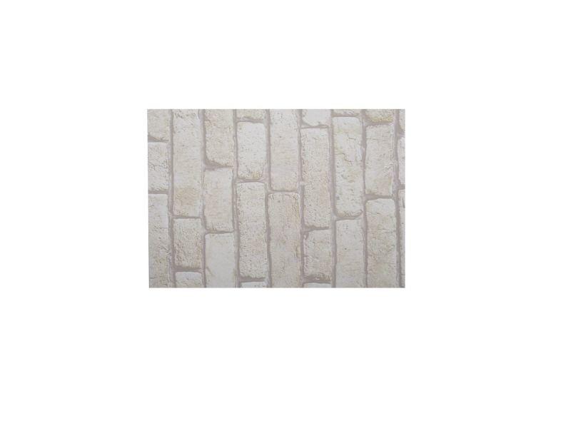 Lot 2x adhésif décoratif pour meuble brique - 200 x 67 cm - blanc