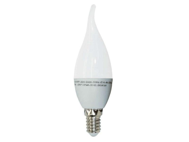 Ampoule led e14 4w flamme coup de vent équivalent 30w - blanc chaud 2700k VT1818TP-SKU4164