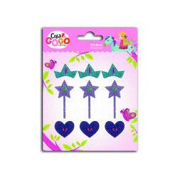Stickers princesses : paillettes et strass